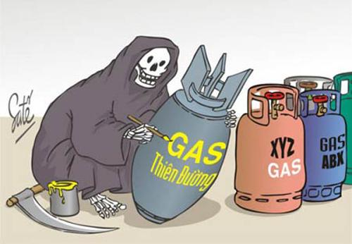 Dấu hiệu nhận biết bình gas giả, kém chất lượng