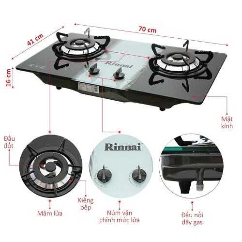 Những ưu điểm không thể bỏ qua của bếp gas âm Rinnai RVB-2BG(W)N