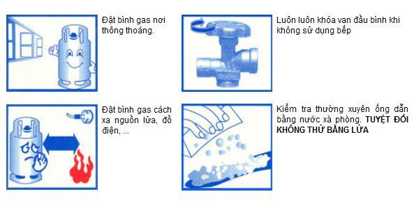 chú ý lắp đặt bình gas an toàn